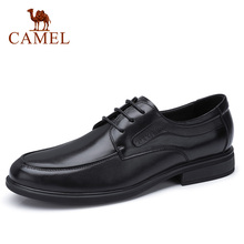 CAMEL Mens Shoes Dress Business Office Genuine Leather Shoes Men Delicate Soft Cowhide Non slip Lightweight Male Footwear