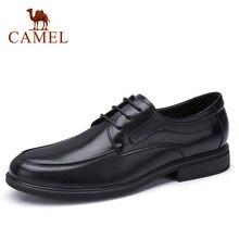 Zapatos de hombre CAMEL, zapatos de cuero genuino para oficina de negocios, zapatos de hombre delicados de cuero vacuno suave antideslizantes, calzado masculino ligero