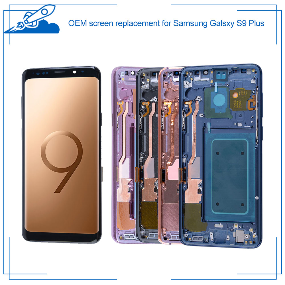 100% OEM Super <font><b>AMOLED</b></font> For <font><b>Samsung</b></font> Galaxy <font><b>S9</b></font> Plus LCD Touch <font><b>Screen</b></font> <font><b>amoled</b></font> Display Digitize Assembly Replacement NO Burn Shadows image