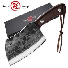 Hand Forged Chef's Knife Handmade Cleaver Vegetables Kitchen Knives Slicing Cooking Tools Camping BBQ Gadgets Full Tang Handle