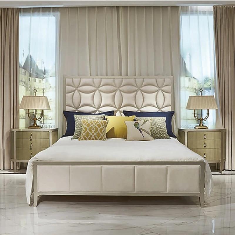 Bedroom Furniture Modern King Size Bed Designs leather bed wooden  bedfurniture wood bed - AliExpress