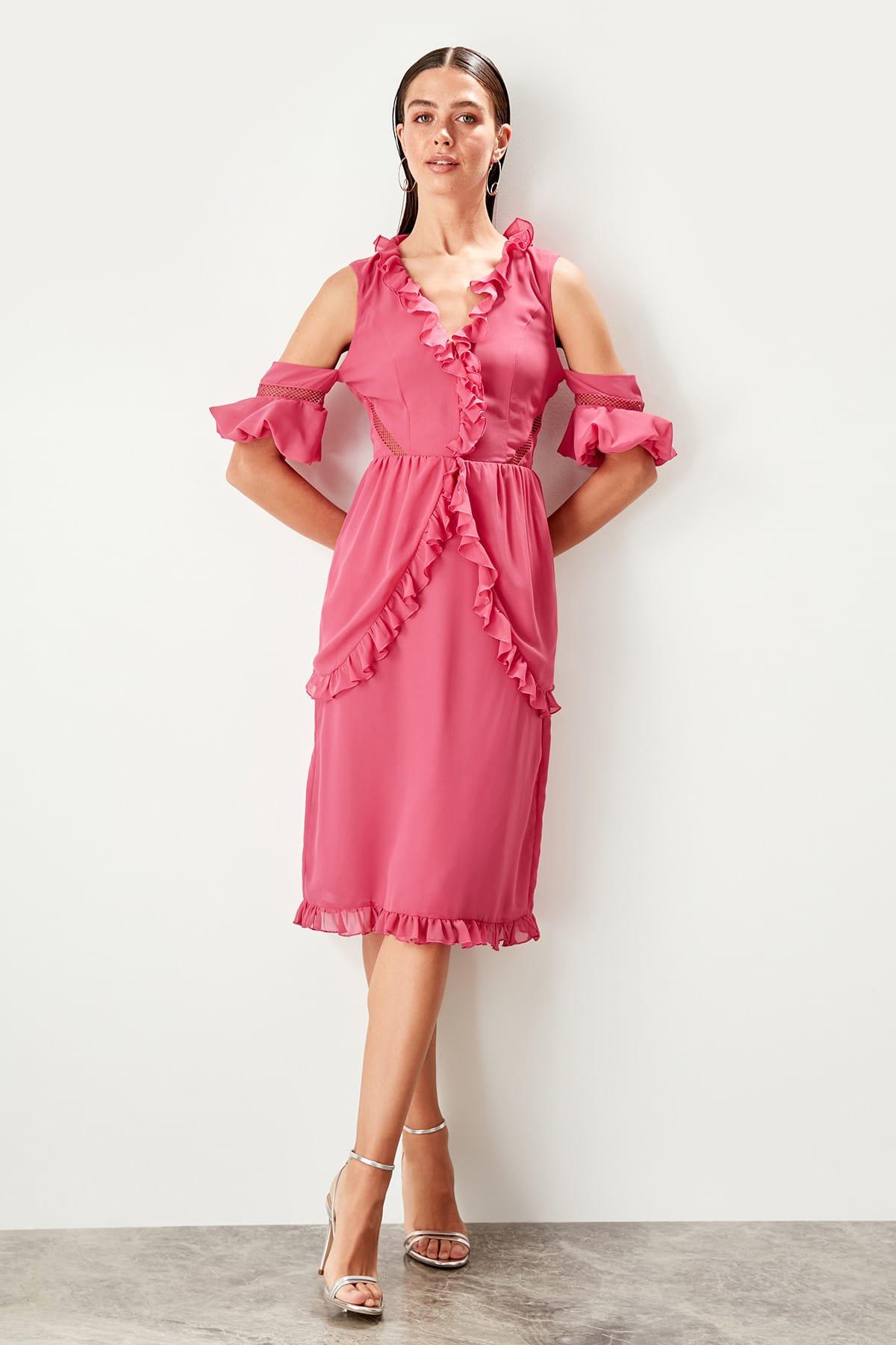Trendyol Ruffle Detail Dress TPRSS19WU0003