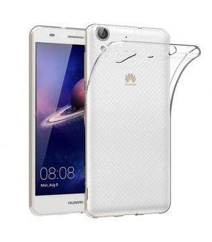 Funda de gel TPU carcasa silicona para movil Huawei Y6 II TRANSPARENTE