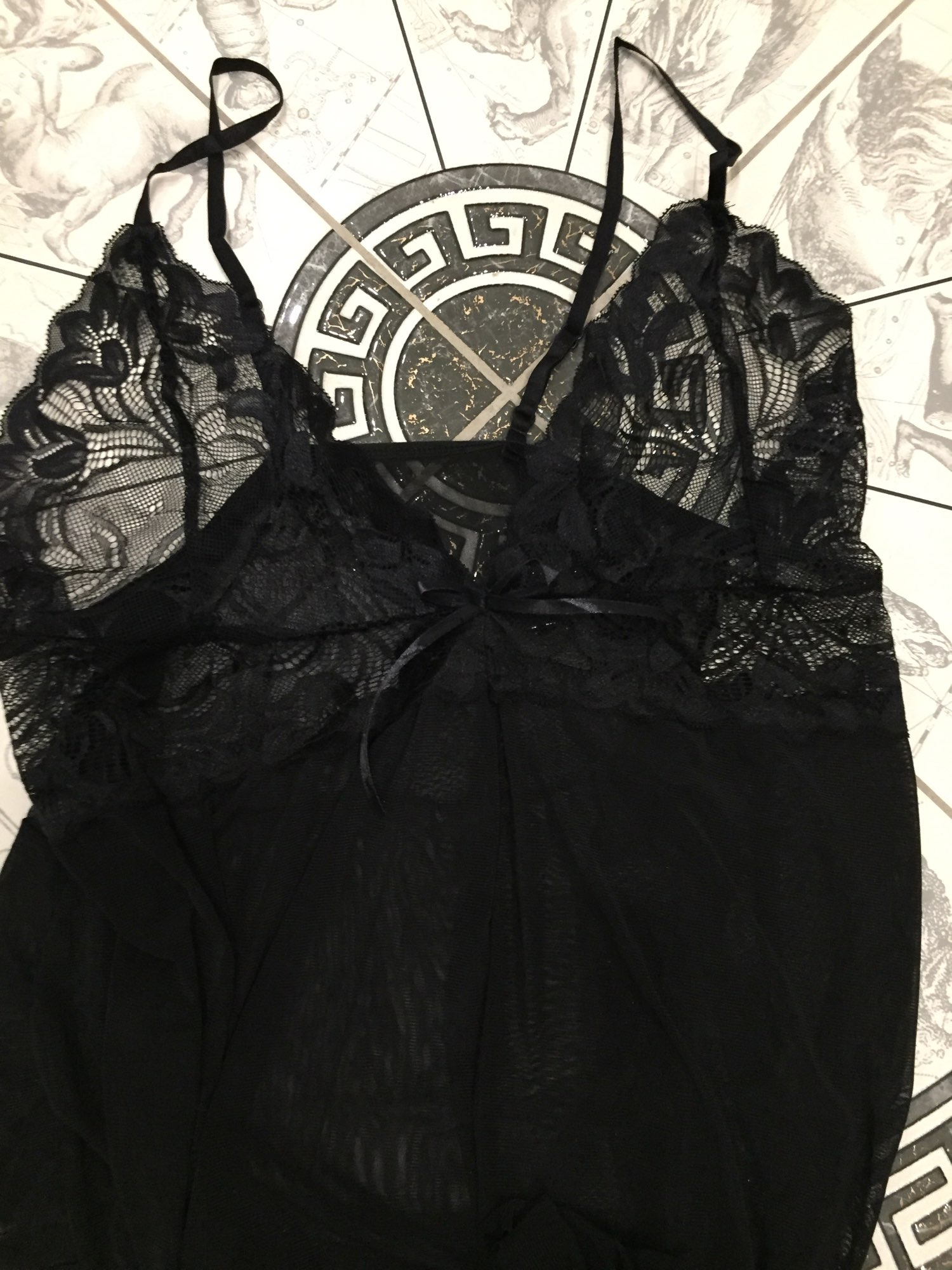 Women Sexy Nightwear See Through Plus Size S-XXXL Lace Nightgown Sleepwear Dress G-String Sexy Lingerie Robe photo review