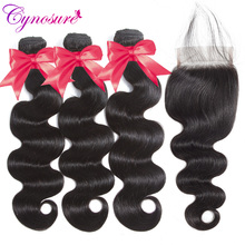 Cynosure Brazilian-Hair Weave Human-Hair-Bundles Body-Wave Soft Double-Weft