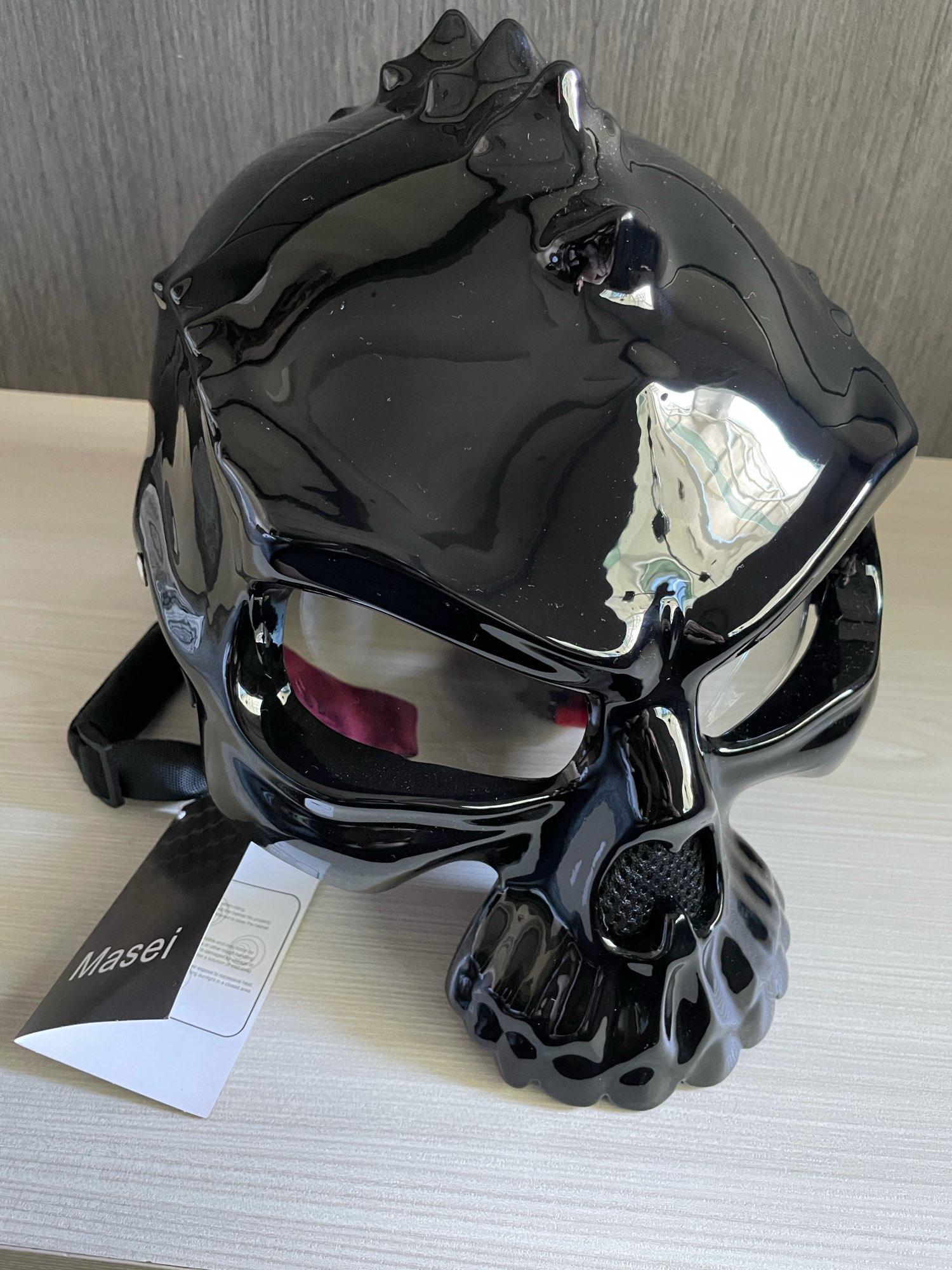 Masei 15 color 489 Dual Use Skull Motorcycle Helmet Capacete Casco Novelty Retro Casque Motorbike Half Face Helmet free shipping|skull motorcycle helmet|face helmethalf face helmet - AliExpress