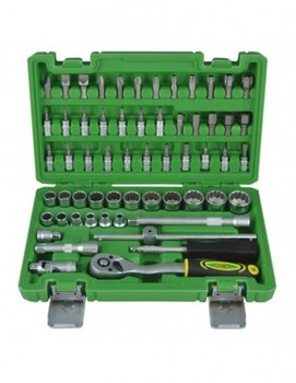 """JBM 51820 CASE TOOLS 3/8 """"59 PIECES WITH GLASSES 12 CHANTS