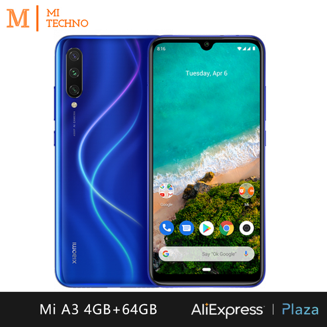 Xiaomi Mi A3 Smartphone (4GB RAM, 64GB ROM, phone mobile, free, new, cheap, battery 4030 mAh, Andriod one) [Global Version] 5