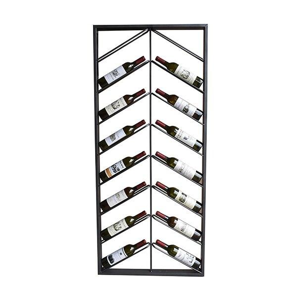 Bottle Rack Metal Wall (160 X 6 X 70 Cm)