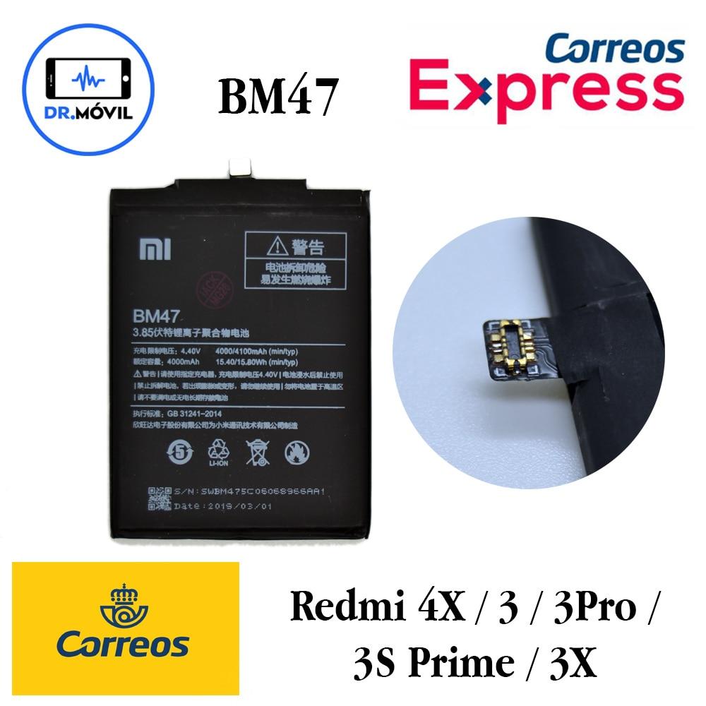 Bateria Xiaomi BM47 pour Redmi 4X 3S 3S Prime 3 Pro 3X 4000 mAh