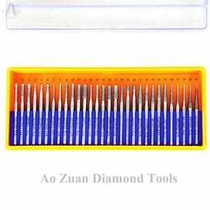 Image 2 - 30 ชิ้น/เซ็ต Shank 2.35mm หรือ 3mm Diamond Bur ชุด Dremel โรตารี่เครื่องมือเจาะชุด Bit