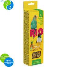 Рио Палочки с тропическими фруктами для волнистых попугайчиков и экзотов 2х40г