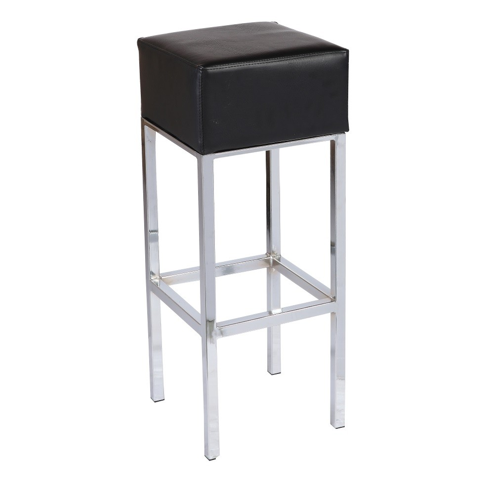 Stool THEO, Plating, Similpiel Black