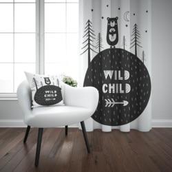 Else czarny biały dżungla niedźwiedzie dzikie dziecko Nordic 3d drukuj dzieci dziecko dzieci panel okienny zestaw kurtyna połącz prezent poszewka na poduszkę w Zasłony od Dom i ogród na