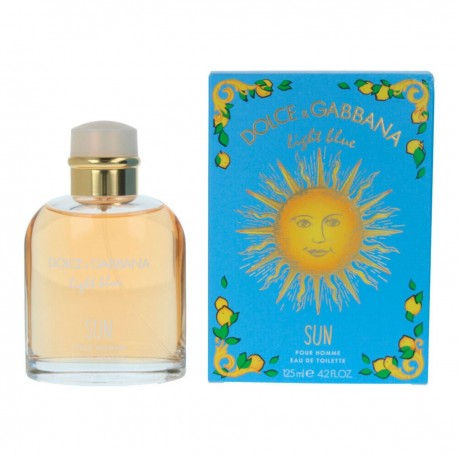 DOLCE GABBANA LIGHT BLUE SUN AND POUR HOMME EDT 125ML SPRAY