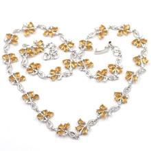 Elegant London Blue Topaz Party Wedding 925 Silver Necklace Gift 18 inch 8x6mm
