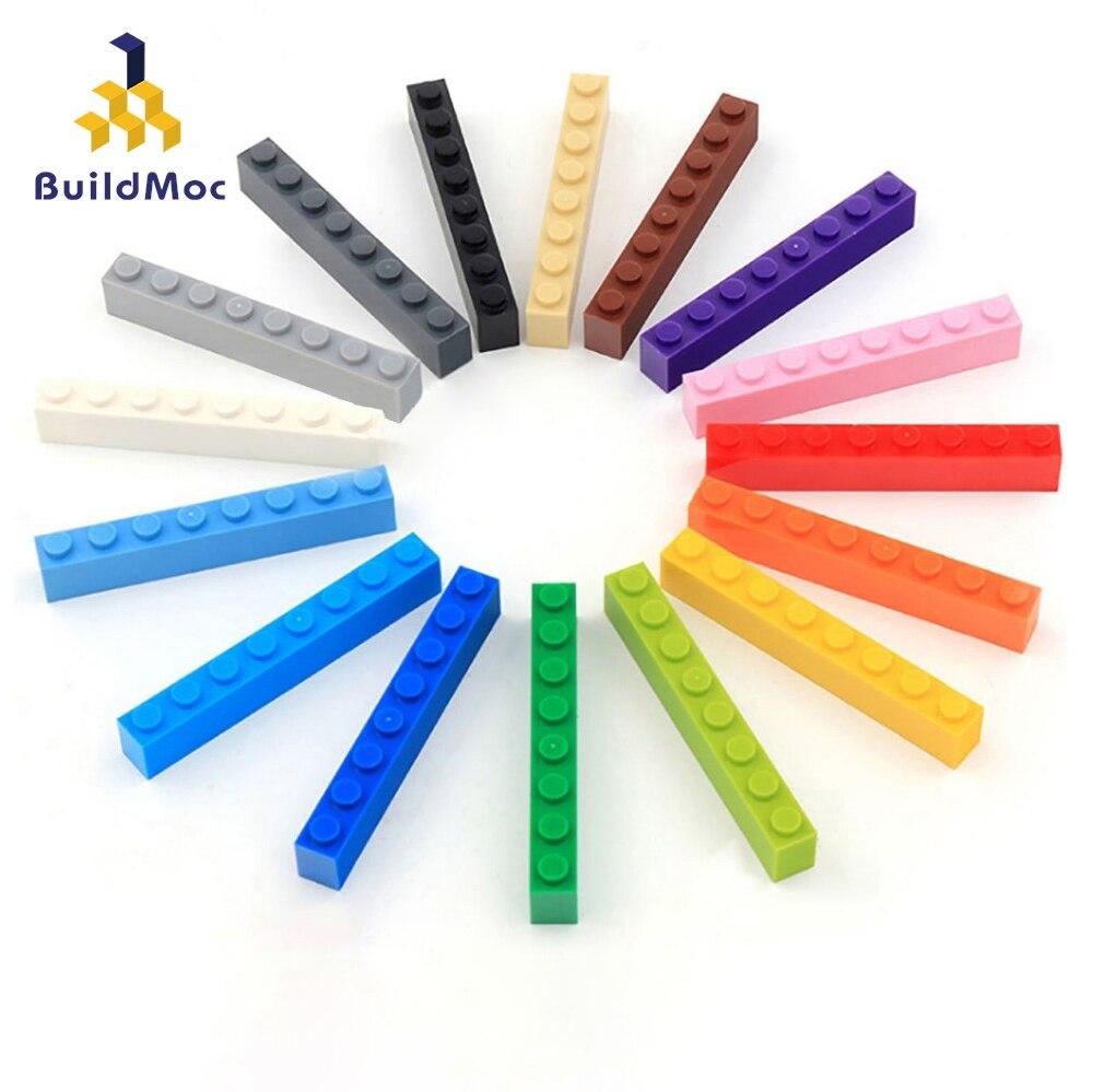 BuildMOC, совместимые сборы, частицы 3008, 1x8 для строительных блоков, детали «сделай сам», образовательные детали, игрушки
