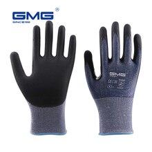 3 זוגות אנטי לחתוך כפפות רמת 5 GMG כחול דק רך HPPE פגז CE מוסמך לעבודה בטיחות מכונאי כפפות לחתוך אנטי