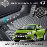 Car Mats EVA on the Lada Vesta sedan set of 4x mats and jumper