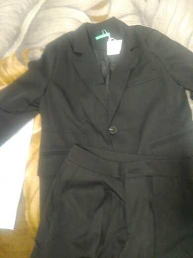 Дешевые Брюки женский костюм зубчатый длинный Повседневный пиджак блейзер женский + широкие брюки на пуговицах 2 шт 2020 женские осенне-весенние розовые наряды
