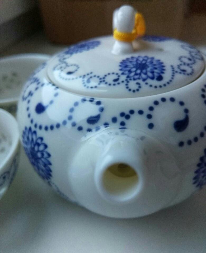 -- Chaleiras Azul-and-requintado Branco
