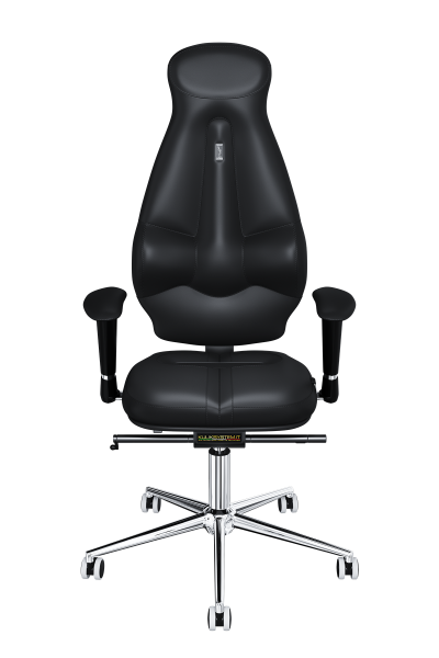 Office Chair KULIK SYSTEM GALAXY Black Computer Chair Relief And Comfort For The Back 5 Zones Control Spine