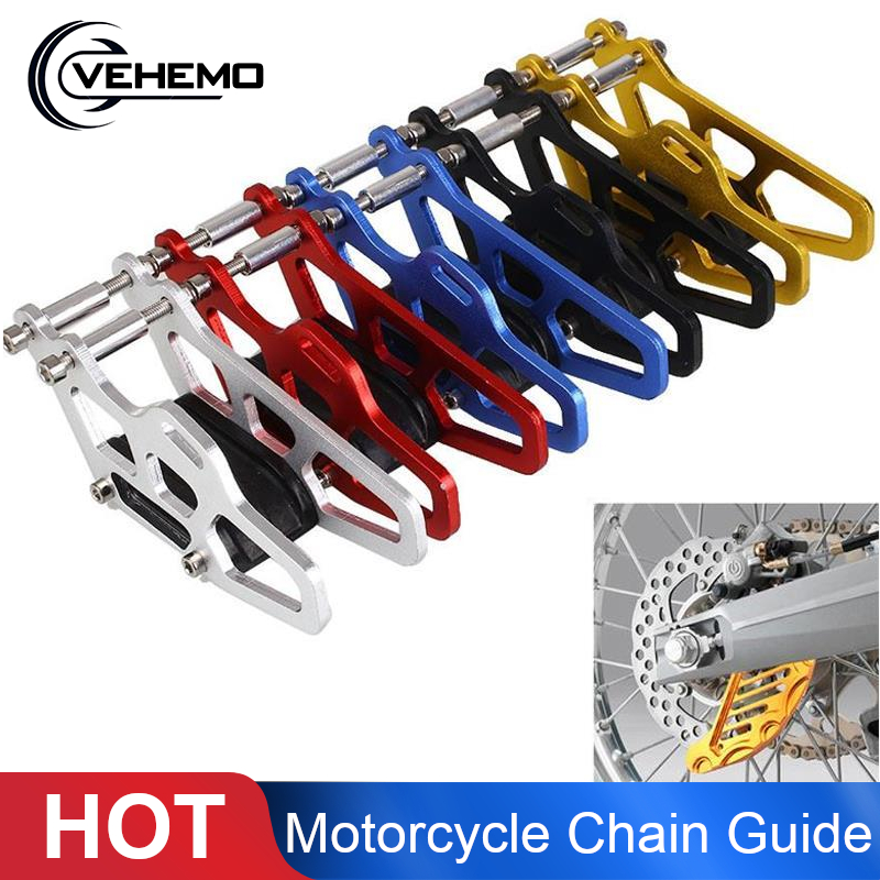 Vehemo Motorcycle Chain Guide Guard Slider For Honda CR CRF 125 250 450R Off-Road Motocross Ornaments And Mouldings