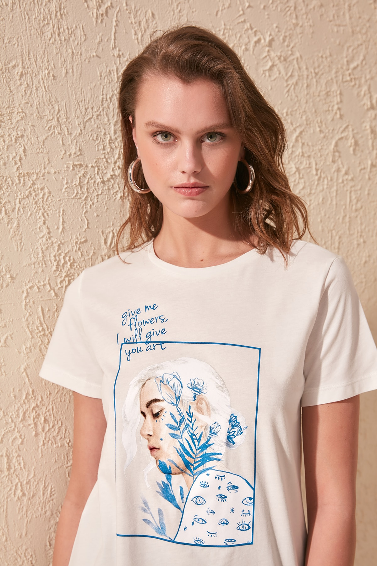 Trendyol Printed Basic Knitted T-Shirt TWOSS20TS0811