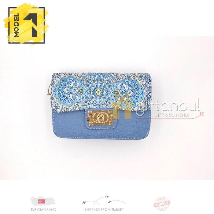Turkish Traditional Authentic Handbag Kilim Design Carpet Design Double Zipper Handbag Shoulder Bag For Women Teenage Girls Kids