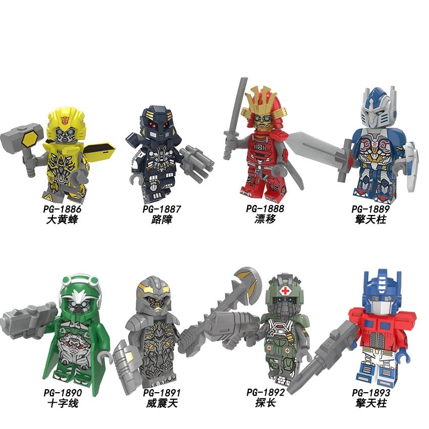 PG8215 Single Sale Building Blocks Robot Movie Technic Deformation Cartoon Miniature Bricks Figures Collection Toys