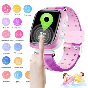 kids smart watch Waterproof baby LBS SOS Positioning 2G SIM Card Anti-lost Smartwatch children Tracker smart clock call watch