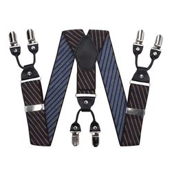 Suspenders for trousers wide (4 cm, 6 clips, black) 55139