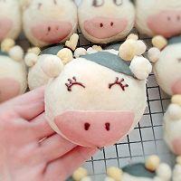 #福气年夜菜#丑萌奶牛豆沙面包的做法图解23