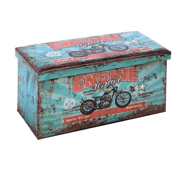 Ev ve Bahçe'ten Katlanabilir Depolama Çantaları'de Çok kullanımlı kutu 116169 Retro katlanabilir mavi (70X36x36 cm) title=