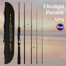 TSURINOYA EGING Fishing Rod UL L 4 Section PARTNER 1.88m Universal RodsDouble rod Tips Trout Bass Fishing Lure rods