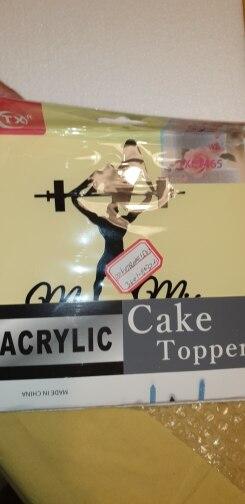 Materiais p/ decoração de bolo Acrílico Acrílico Topper