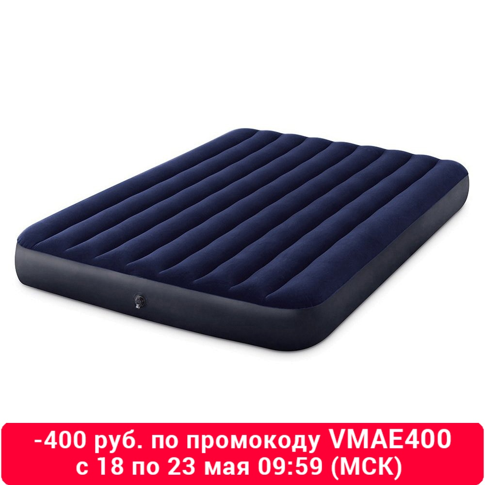 Intex Bed Inflatable Classic Downy (Fiber Tech) Quine, 1,52 M X 2,03 M X 25 Cm
