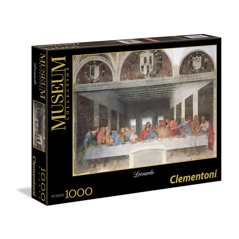 Clementoni - Puzzle 1000 Pieces Great Museums, Leonardo Design: The Last Supper