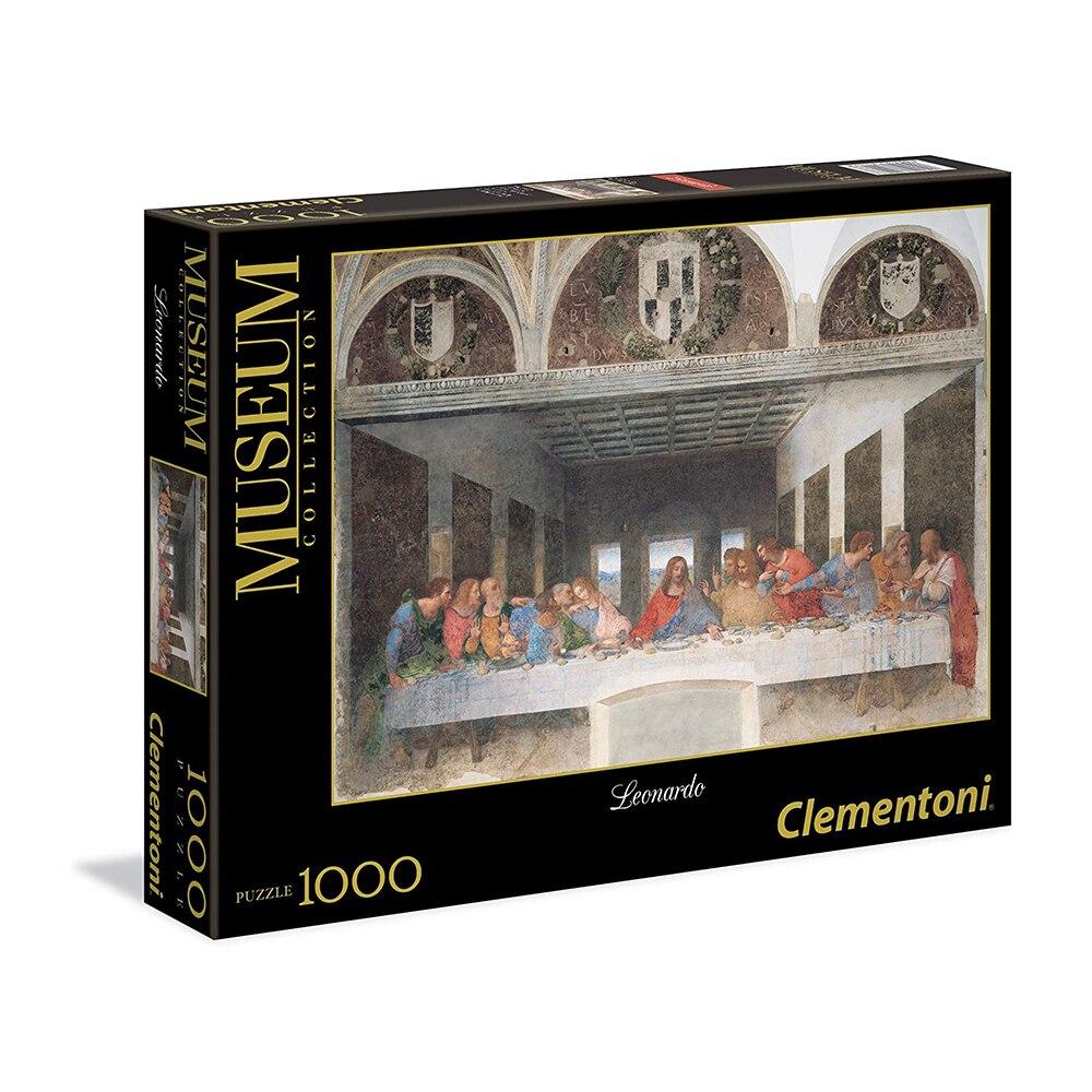 Clementoni - Puzzle 1000 Pieces Great Museums, Leonardo Design: The Last Supper