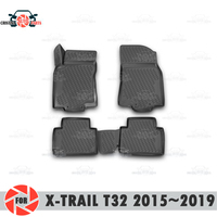 Floor mats for Nissan X-Trail T32 2015~2019 rugs non slip polyurethane dirt protection interior car styling accessories