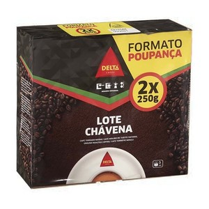 Coffee ground natural tueste lot Chávena 2x250g Delta Cafes