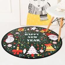 Рождественские ковры для гостиной Мультяшные коврики с принтом