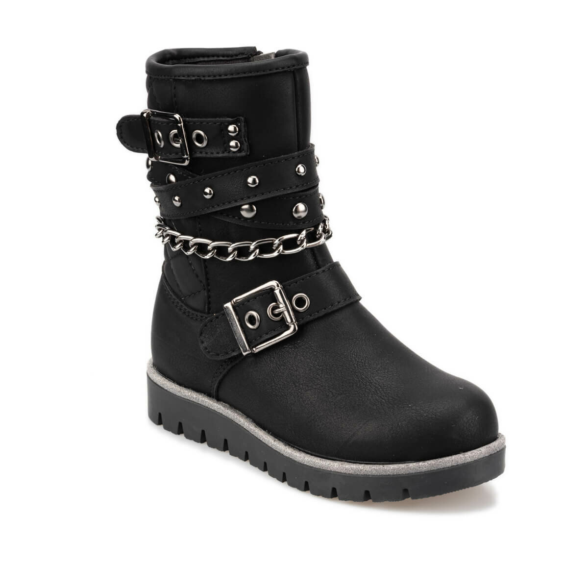 FLO 92.511829.P Black Female Child Boots Polaris