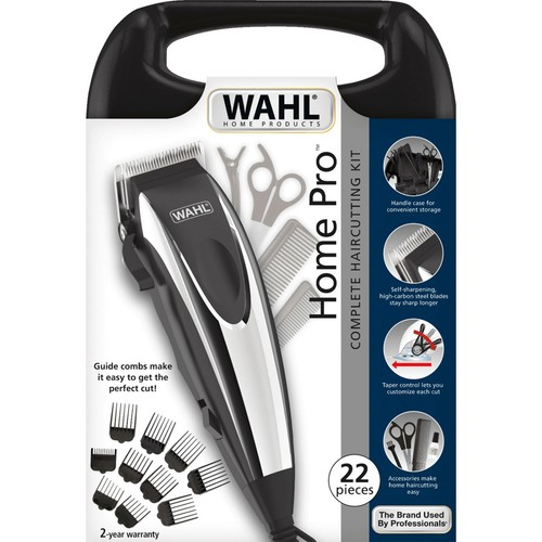 WAHL 09243-2616 Home Pro - Cord Hair Trimmer, Wired Hair Clipper, 22 Pieces, CE, Blade Width 46mm, Abs+stainless Steel, Eu Plug