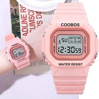 2020 модные светодиодные часы для женщин и девочек, цифровые спортивные часы, женские часы, женские наручные часы, часы для свиданий