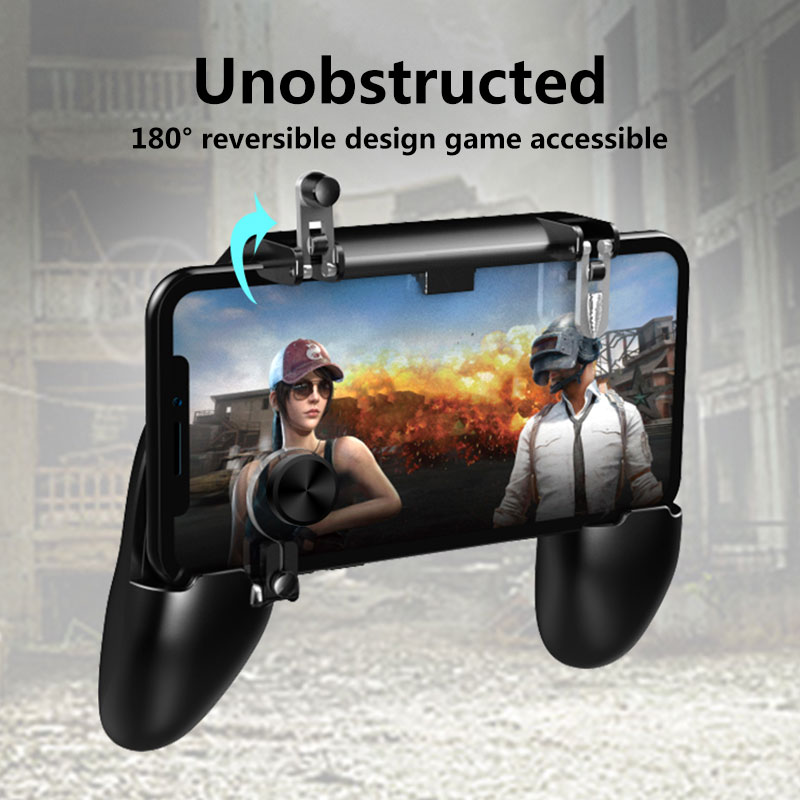 Universal Smartphone Gamepad Travel Bracket Mobile Phone Free Shooting Trigger Auxiliary W11+ Gaming Joystick Grip Game Handle