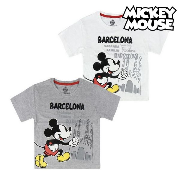 Child's Short Sleeve T-Shirt Barcelona Mickey Mouse 73489