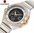 Kademan 2020 جديد نساء ساعات فاخرة العلامة التجارية السيدات ساعة كوارتز شبكة من الاستانلس استيل باند عادية سوار ساعة اليد reloj mujer