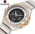 Kademan 2020 ใหม่ผู้หญิงนาฬิกาแบรนด์หรูสุภาพสตรีนาฬิกาควอตซ์สแตนเลสสตีล Casual สร้อยข้อมือนาฬิกาข้อ...