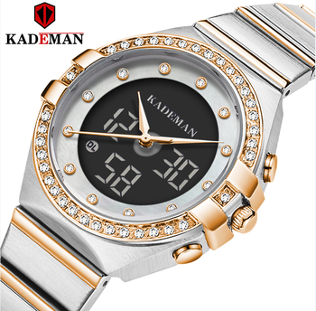 цена Kademan 2020 New Women Watches Luxury Brand Ladies Quartz Watch Stainless Steel Mesh Band Casual Bracelet Wristwatch reloj mujer онлайн в 2017 году